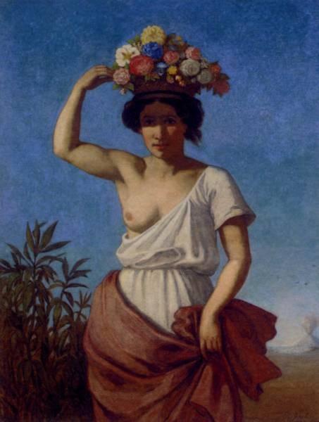 A Pompeiian Beauty Carrying Fruit